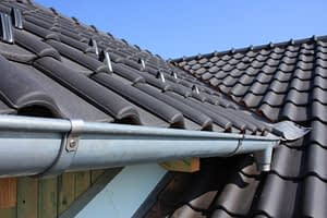 Tiled Roof With Guttering